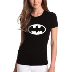 T-shirt de mulher Batman.100% Algodão, moderna e básica de manga curta com visual contemporâneo.
