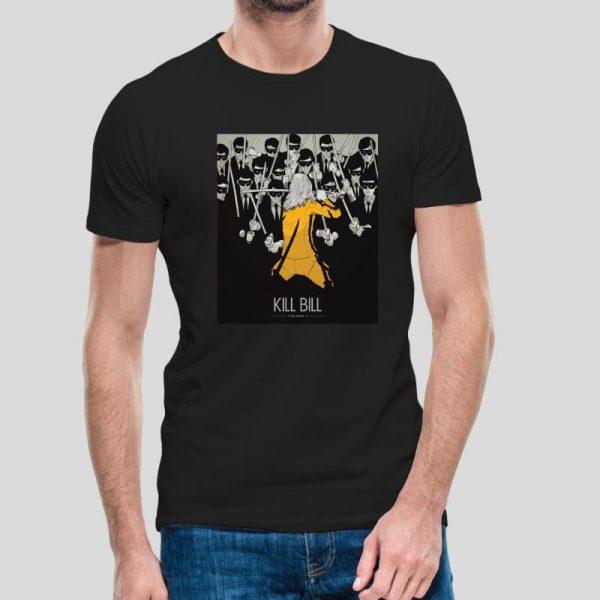 T-shirt de homem Kill Bill 100% Algodão, moderna e básica de manga curta com visual contemporâneo.
