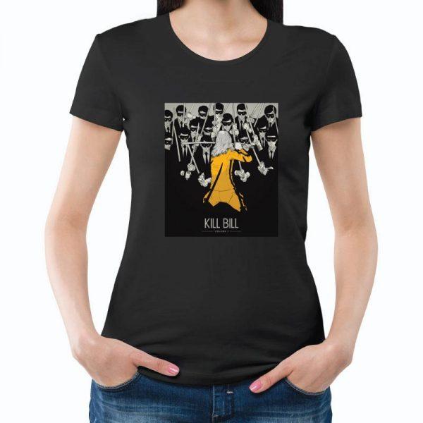 T-shirt de mulher Kill Bill 100% Algodão, moderna e básica de manga curta com visual contemporâneo.