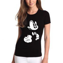 T-shirt de mulher Mickey irritado.100% Algodão, moderna e básica de manga curta com visual contemporâneo.