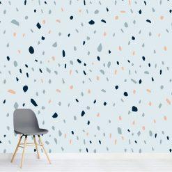 Papel de parede Dispersão em vinil autocolante decorativo. Aplique esta imagem em qualquer superfície lisa e sem textura. Além disso, ao contrário do papel de parede tradicional, não precisa aplicar colas.