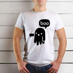 T-shirt de homem Fantasma desaprovação. 100% Algodão, moderna e básica de manga curta com visual contemporâneo.