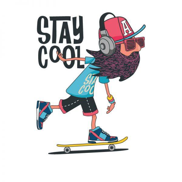 T-shirt Stay Cool. unissexo 100% Algodão, moderna e básica de manga curta com visual contemporâneo