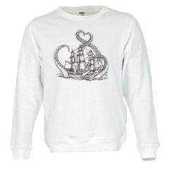 Sweatshirt A lenda do kraken. Unissexo. 50% Algodão 50% Poliéster, moderna e básica com visual contemporâneo.