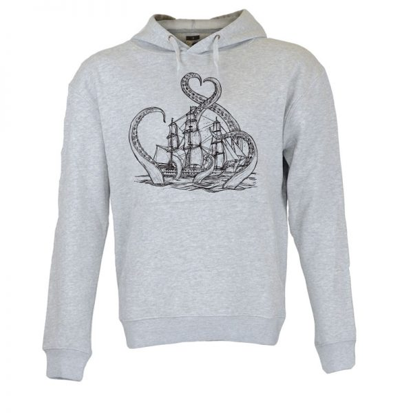 Sweatshirt com capuz A lenda do kraken. Unissexo.