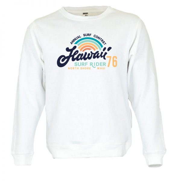 Sweatshirt Hawaii Surf Rider vintage unissexo