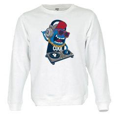 Sweatshirt Monster DJ party unissexo
