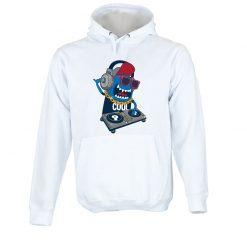 Sweatshirt com capuz Monster DJ party