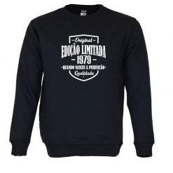 Sweatshirt Edição Limitada com a sua data de nascimento personalizada. Unissexo. 50% Algodão 50% Poliéster, moderna e básica com visual contemporâneo.