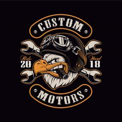 Sweatshirt com capuz Custom motors ride