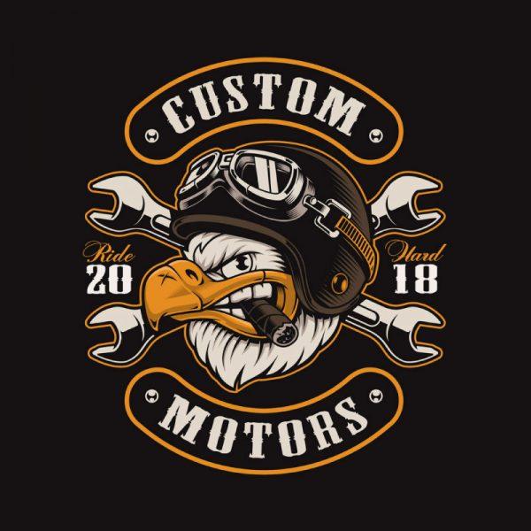 Sweatshirt Custom motors ride. Unissexo