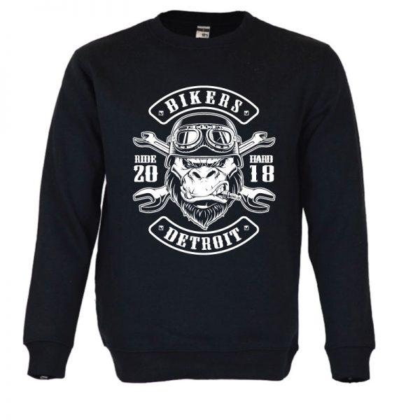 Sweatshirt Gorilla Biker. Unissexo. 50% Algodão 50% Poliéster, moderna e básica com visual contemporâneo.