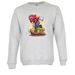 Sweatshirt Super Mario. Unissexo. 50% Algodão 50% Poliéster, moderna e básica com visual contemporâneo. Portes grátis para Portugal e ilhas.