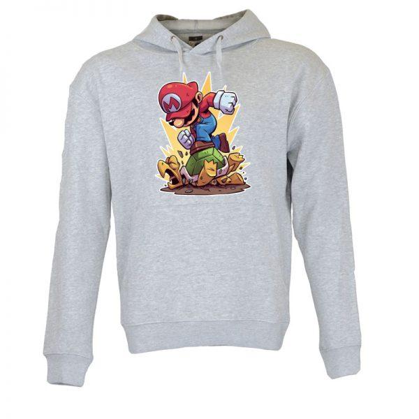 Sweatshirt com capuz Super Mario. Unissexo. 50% Algodão 50% Poliéster, moderna e básica com visual contemporâneo.Portes grátis para Portugal e ilhas.