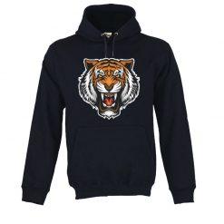 Sweatshirt com capuz Cabeça de Tigre. Unissexo