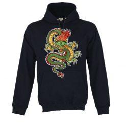 Sweatshirt com capuz Dragão Oriental. Unissexo.