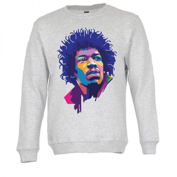 Sweatshirt Jimi Hendrix. Unissexo. 50% Algodão 50% Poliéster, moderna e básica com visual contemporâneo