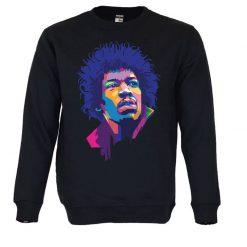 Sweatshirt Jimi Hendrix. Unissexo. 50% Algodão 50% Poliéster, moderna e básica com visual contemporâneo. Portes grátis para Portugal e ilhas.