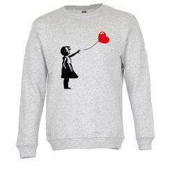 Sweatshirt A menina do balão vermelho Banksy