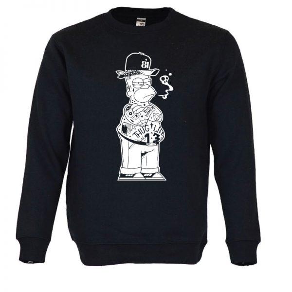 Sweatshirt Thug life Simpson. Unissexo.