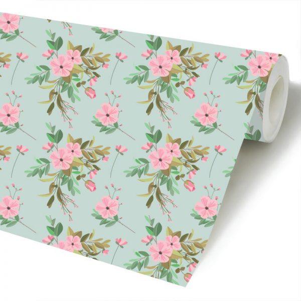 Floral Festa verde papel de parede rolo