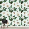 Papel de parede padrão Floral vintage em vinil autocolante decorativo. Aplique esta imagem em qualquer superfície lisa e sem textura. Além disso, ao contrário do papel de parede tradicional, não precisa aplicar colas.