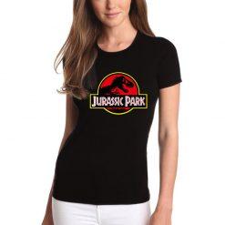 T-shirt Jurassic Park unissexo 100% Algodão, moderna e básica de manga curta com visual contemporâneo