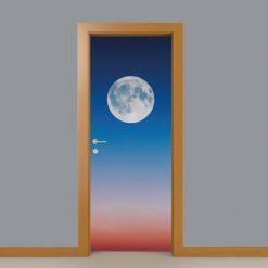 Lua cheia, autocolante decorativo para portas e paredes. Aplique esta imagem em qualquer superfície lisa e sem textura paredes, vidros, portas, mobiliário…