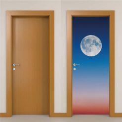 Lua cheia, autocolante decorativo para portas e paredes