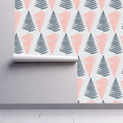 Papel de parede padrão Mar de Árvores em vinil autocolante decorativo. Aplique esta imagem em qualquer superfície lisa e sem textura. Além disso, ao contrário do papel de parede tradicional, não precisa aplicar colas.