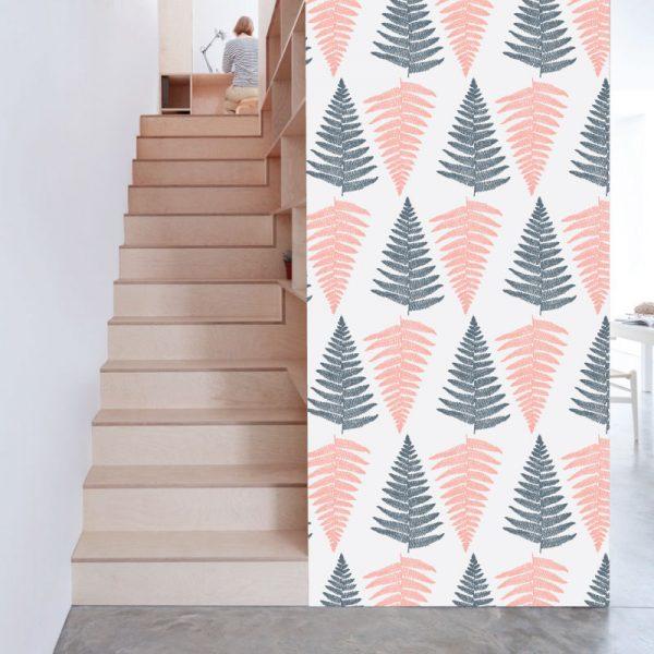 Papel de parede padrão Mar de Árvores em vinil autocolante decorativo