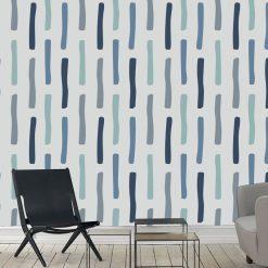 Papel de parede Nature escandinavo linhas verticais em vinil autocolante decorativo. Aplique esta imagem em qualquer superfície lisa e sem textura. Além disso, ao contrário do papel de parede tradicional, não precisa aplicar colas.