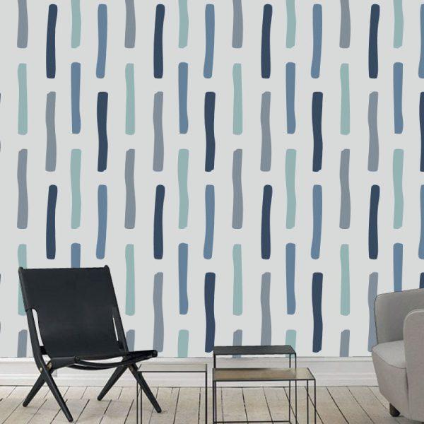 Papel de parede Nature escandinavo linhas verticais em vinil autocolante decorativo