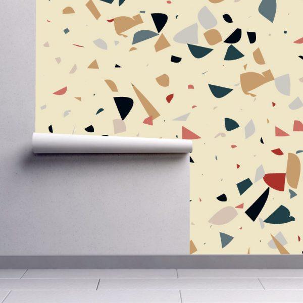 Papel de parede Dispersão quente em vinil autocolante decorativo. Aplique esta imagem em qualquer superfície lisa e sem textura. Além disso, ao contrário do papel de parede tradicional, não precisa aplicar colas.