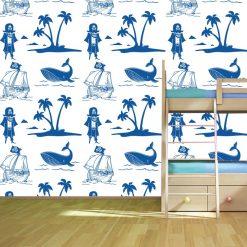 Papel de parede Ilha dos Piratas Infantil em vinil autocolante decorativo