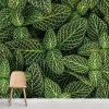 Parede de folhas verdes mural de parede em vinil autocolante decorativo