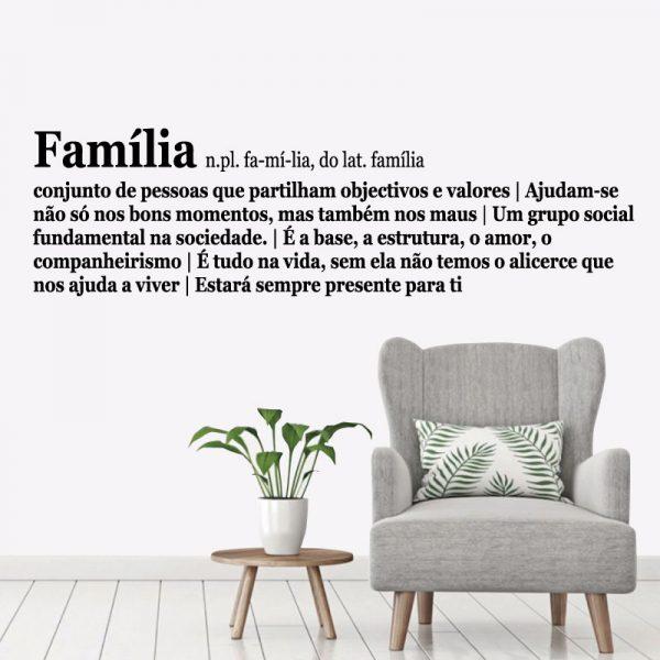 Família definição frase. autocolante decorativo de parede.