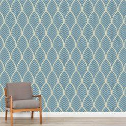 Papel de parede Arcos geométrico em vinil autocolante decorativo. Aplique esta imagem em qualquer superfície lisa e sem textura. Além disso, ao contrário do papel de parede tradicional, não precisa aplicar colas.