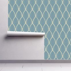 Papel de parede Arcos geométrico em vinil autocolante decorativo