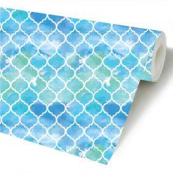 Art déco geométrico aguarela papel de parede rolo