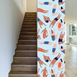 Papel de parede Banhistas em vinil autocolante decorativo