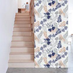 Papel de parede Botânico suave em vinil autocolante decorativo