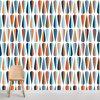 Papel de parede Centenário geométrico em vinil autocolante decorativo. Aplique esta imagem em qualquer superfície lisa e sem textura. Além disso, ao contrário do papel de parede tradicional, não precisa aplicar colas.