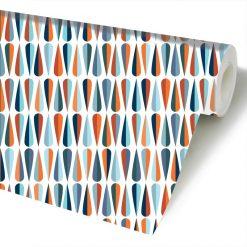 Papel de parede Centenário geométrico em vinil autocolante decorativo