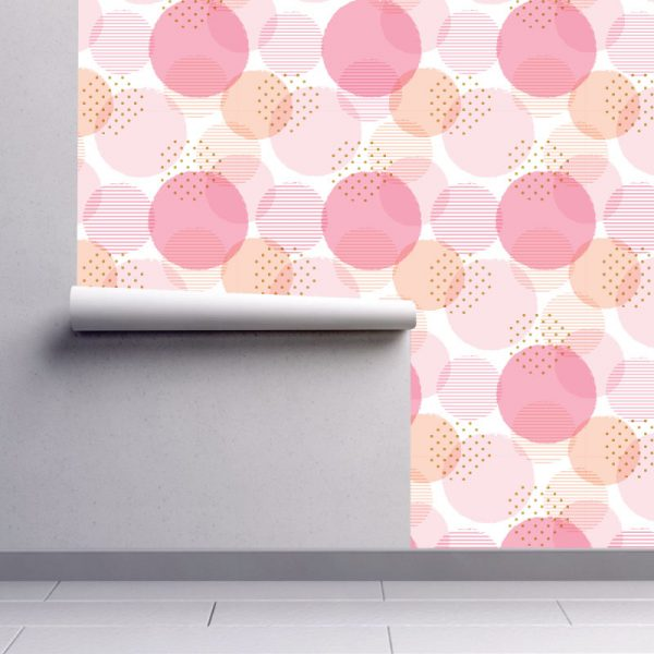 Papel de parede Círculos abstrato em vinil autocolante decorativo