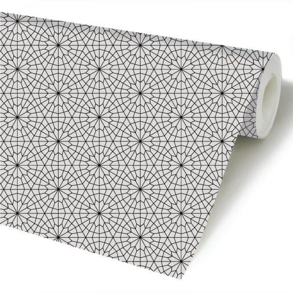 Papel de parede Estrelas em linha geométrico em vinil autocolante decorativo