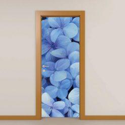 Flores Azuis, autocolante decorativo para portas e paredes. Aplique esta imagem em qualquer superfície lisa e sem textura paredes, vidros, portas, mobiliário…