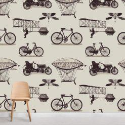 Papel de parede Invenções do homem em vinil autocolante decorativo