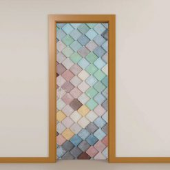 Pedras coloridas, autocolante decorativo para portas e paredes