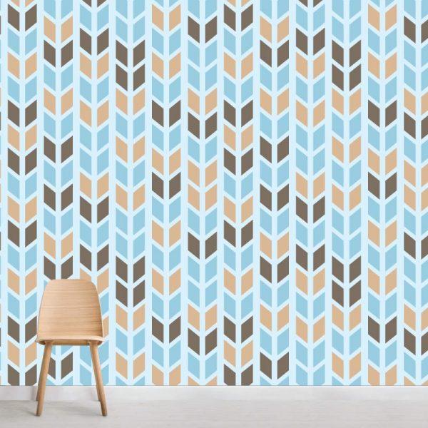 Papel de parede Setas Direção em vinil autocolante decorativo. Aplique esta imagem em qualquer superfície lisa e sem textura. Além disso, ao contrário do papel de parede tradicional, não precisa aplicar colas.